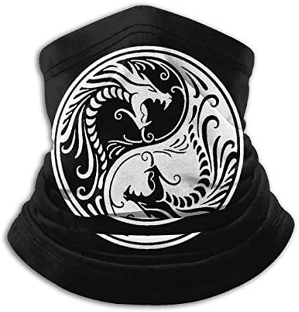 Dragon Ying Yang ネックカバー 吸汗 通気 バンダナ クールなア フェイスガード 多機能 マジックスカーフ