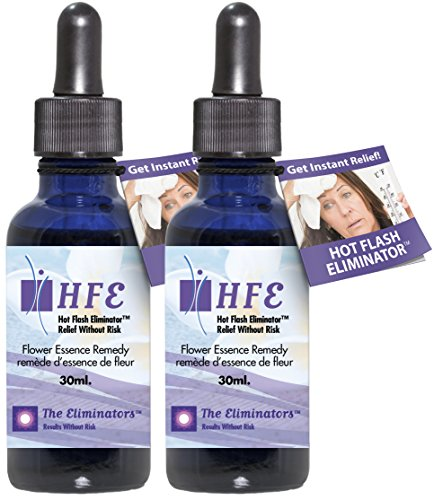 Hot Flash Eliminator Instant Menopause Relief Stops Hot Flashes, Night Sweats, Mood Swings and Anxiety Using Natural Safe Ingredients (No Estrogens) 2 Bottles