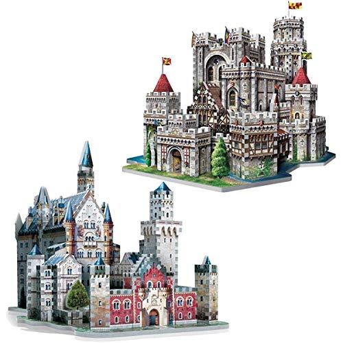 Puzzle 1755 Teile - 2 x 3D Puzzles - Set Schloss