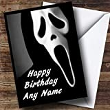 Scream Scary Horror Personalized Birthday Greetings Card