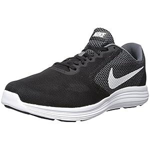 NIKE Men's Revolution 3 Running Shoe, Grey/Black, 10.5 M US