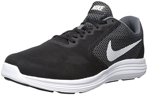 NIKE Men's Revolution 3 Running Shoe, Dark Grey/White/Black, 7.5 4E US