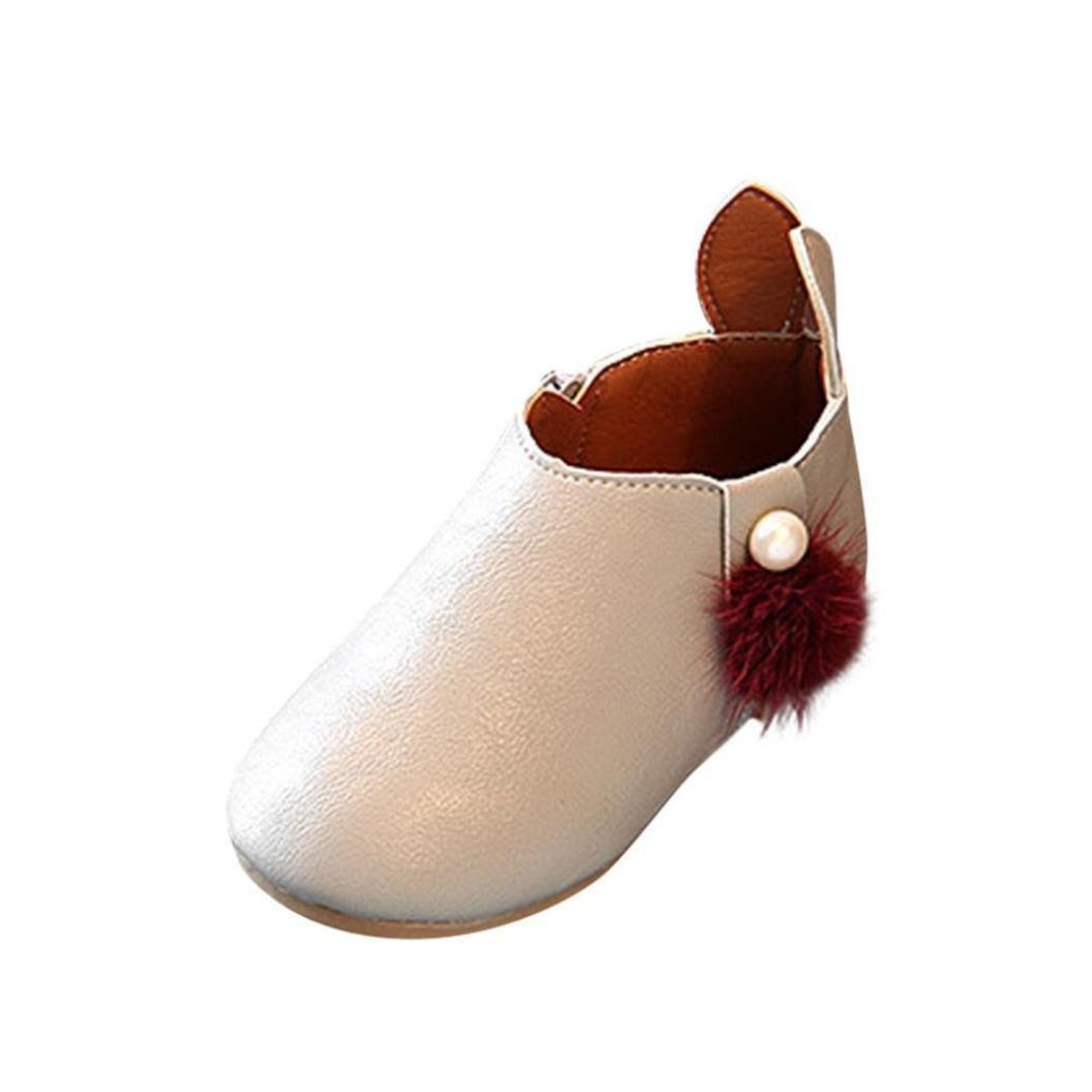 nacome幼児ベビー女の子スニーカーブーツジッパー靴with Rabbit Ears B07748TSXN  グレー US:10