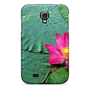 Hot Style TJLYiE3457 Protective Case Cover For Galaxys4(water Lotus Flower Pink Flowers)