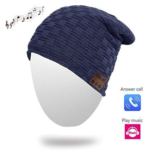 Bluetooth Beanie Wireless Musical Hat Winter Knit Cap Beanies with Speaker Stereo Headphone Headset Earphone for Kids Men Women Teen Boys Girls Outdoor Sport Running Skiing Hiking