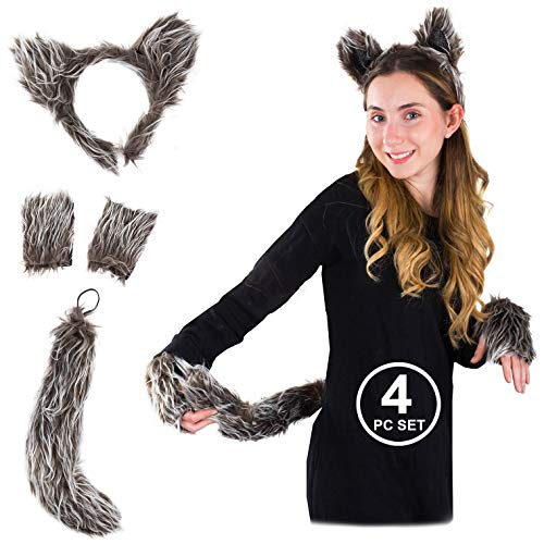 Little Red Riding Hood Wolf Slayer Costumes - Tigerdoe Ears and Tail S et
