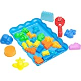 Kinetic Sand Molds and Tools Kit - 28 Piece City Theme Kinetic Sand Molds and Tray + Sand Art Tool for Magic Sand Moon Dough Brookstone and More