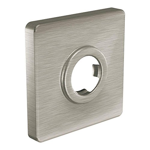 - Moen 147572BN Square Shower Arm Flange, Brushed Nickel