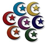 Islamic Set of 7 Moon and Star Window Clings