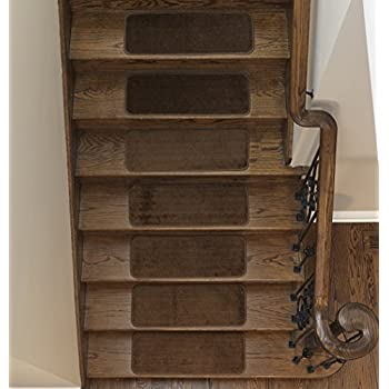 Softy Stair Tread Mats, Skid Resistant, Rubber Backing, Non Slip Carpet, 9