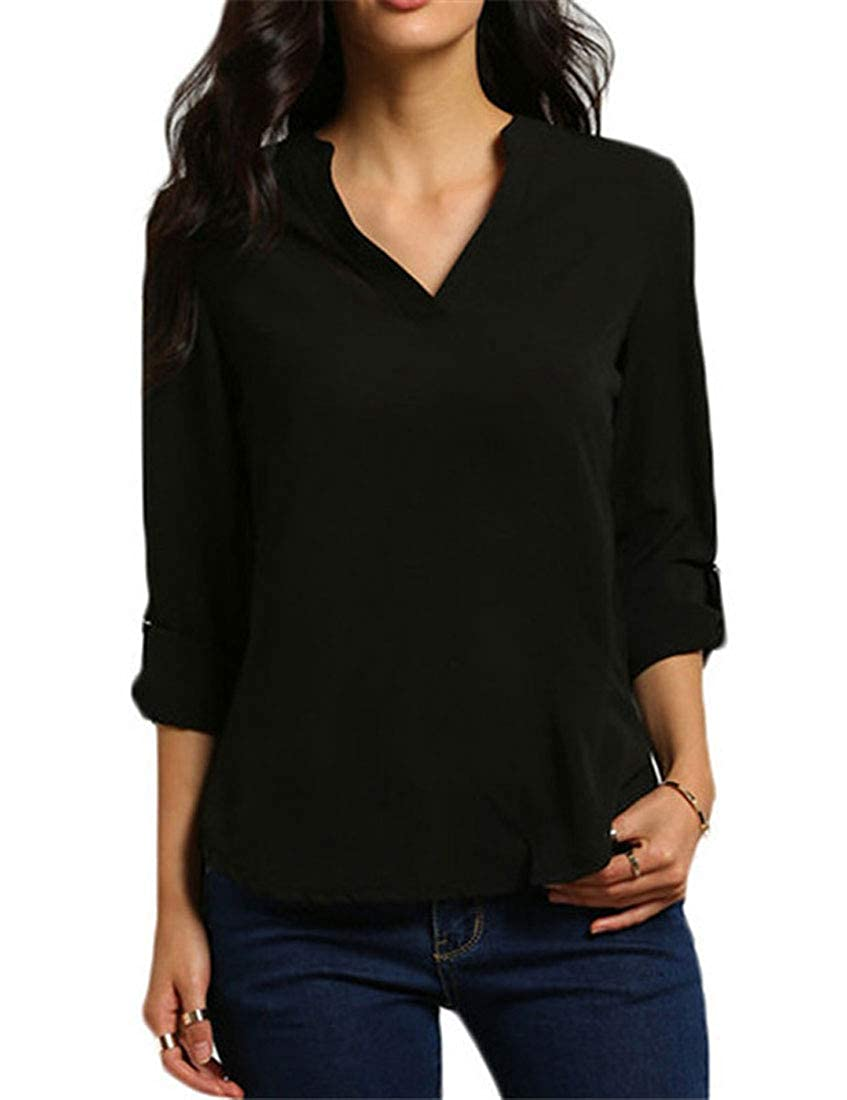 YUNY Women Pure Color Long-Sleeve Hoodie Zipper Pocket Weekend Sweatshirts Coat Green L