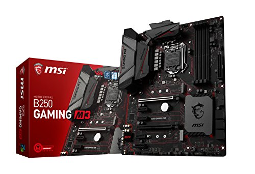 MSI Gaming Intel B250 LGA 1151 DDR4 HDMI VR Ready ATX Motherboard (B250 GAMING M3) (Motherboard Audio Pentium)