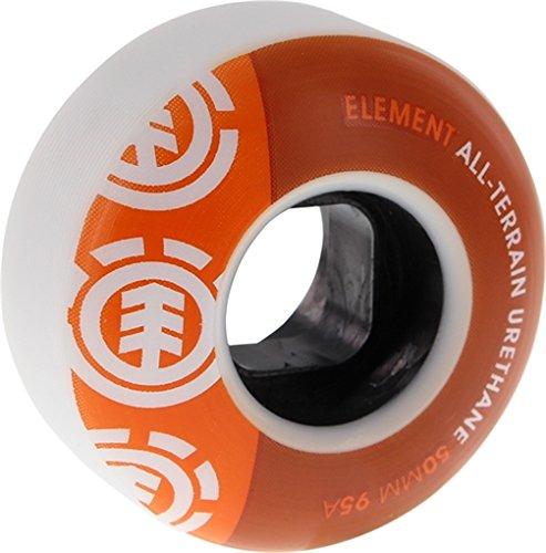 Element Skateboards Section Orange Skateboard Wheels - 50mm 95a (Set of 4)