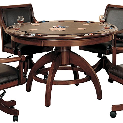 Hillsdale Palm Springs Game Table in Medium Brown (Hillsdale Leather)