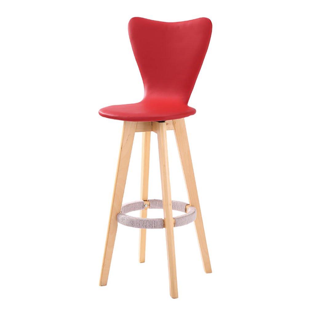 バーツ モダンスタイルのバースツールカウンターチェア、快適な背もたれマルチカラーオプションのモダンなアセンブリ回転木製のバーカウンタースツール バースツール (色 : 赤, サイズ さいず : 108cm) B07BS1VWB4 108cm|赤 赤 108cm