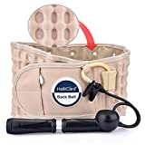 HailiCare Physio Decompression Back Belt Back Brace Back Pain Lower Lumbar Support Back Massage One Size for 29 inches to 49 inches Waists (Beige)
