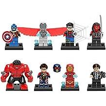 2017 HOT LegoINGlys 8PCS Super Heroes X-Men Doctor Octopus Batman Captain America Iron Man With Weapons Action Toy (1)