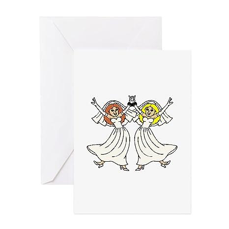 Amazon.com: CafePress – lesbiana boda 2 Tarjetas De ...