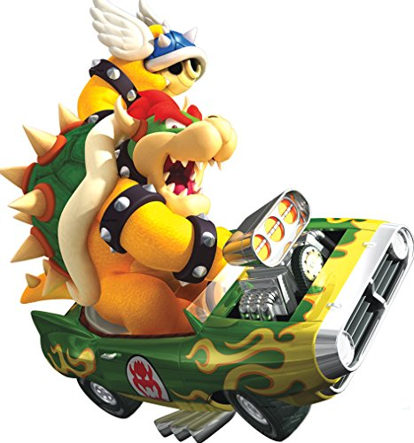 (7 Inch Bowser Super Mario Kart Wii Bros Brothers Removable Wall Decal Sticker Art Nintendo 64 SNES Home Kids Room Decor Decoration - 7 by 7 1/2)