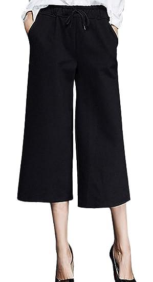 Pantalon De Palazzo 78 Pour Femme Taille Haute Grande