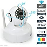 Sricam SP011 Wireless HD IP Wifi CCTV Indoor Security Camera (Support Upto 128 GB SD Card)