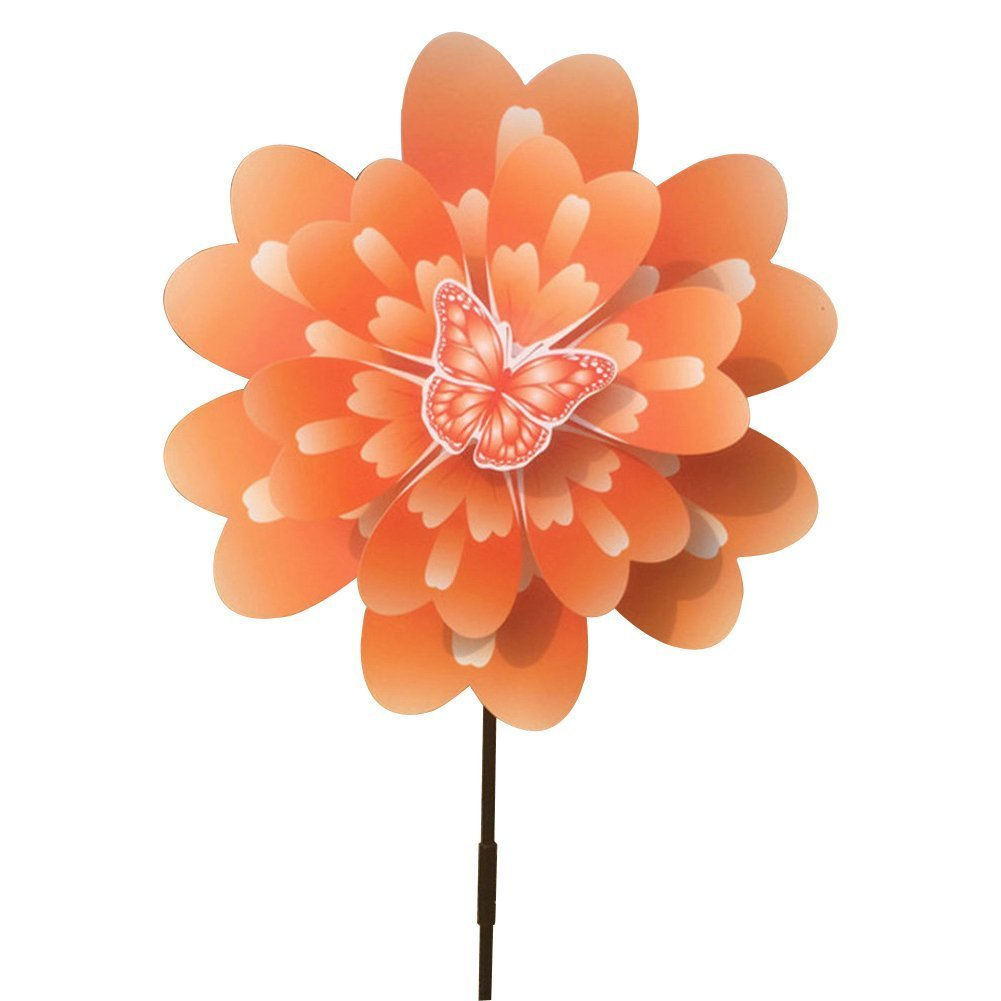 (Orange) - Ladaidra Yard Wind Spinner, Peony 3D Flower 3D B071WPP627 Double Layers Stand Decor for Farm Yard (Orange) B071WPP627 オレンジ, たかおマーケット:ba785f8d --- artmozg.com