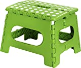 Utopia Home Kids Folding Step Stool – 11 Inches Wide and 9 Inches Tall – Green – Light Weight Plastic Design – by