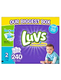 Luvs Ultra Leakguards  Diapers Size 2, 240 Count BOBEBE Online Baby Store From New York to Miami and Los Angeles