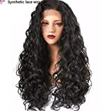 Lace front wig kinky curly wave hair Europe and America Front lace wig