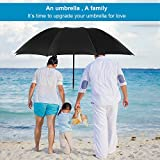 Extra Large Folding Umbrella with 10 Ribs Waterproof Campact Umbrella for Men and Women
