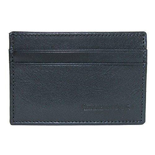CrookhornDavis Men's Italian Vachetta Calfskin Leather Card Case, (Case Vachetta Leather)