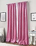 Cheap Starry Night Room Darkening Rod Pocket Curtain Panel