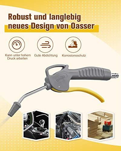 Oasser Ausblaspistole Druckluft-Ausblaspistole Druckluft Reinigungspistole Betriebsdruck 12 Bar mit EU Schnellkupplung