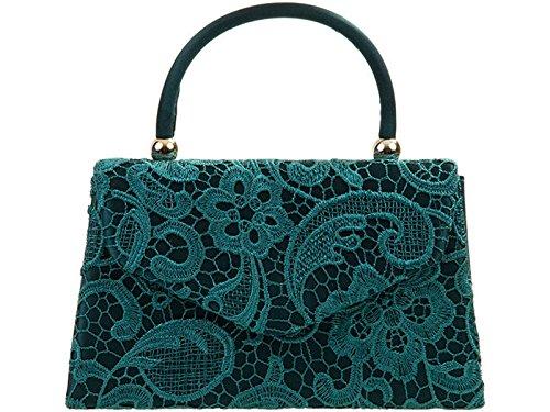 LeahWard Handbag Wedding Women's Top Clutch Teal Lace s Purser Body Bag Evening Cross Bags 4xrxYqSw