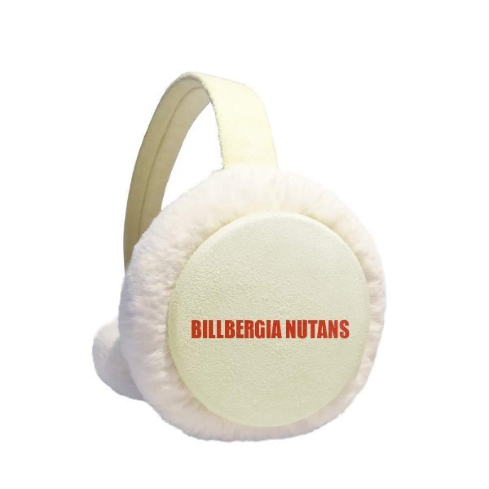 Billbergia Nutans Flower Red Earmuff Ear Warmer Faux Fur Foldable Outdoor