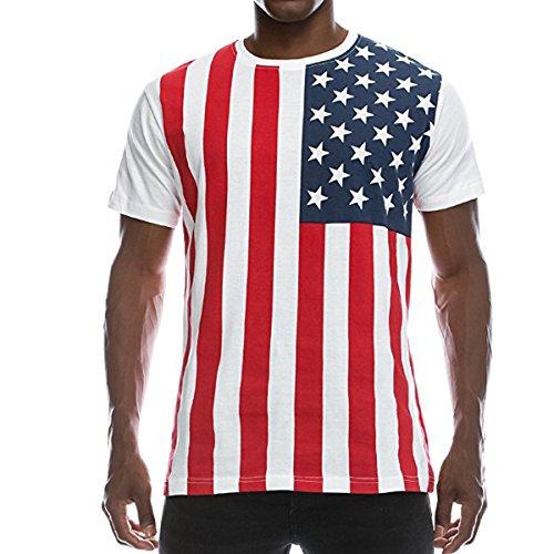 - FCYOSO Men's American Flag Printed Athletic Training Pullover Tank Top Shirt XX-Large Blue1