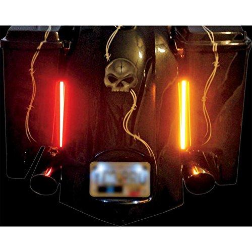 Bagger Custom Harley - Custom Dynamics GENMPLASMA-DCPR Dual Color Plasma Rods - Red