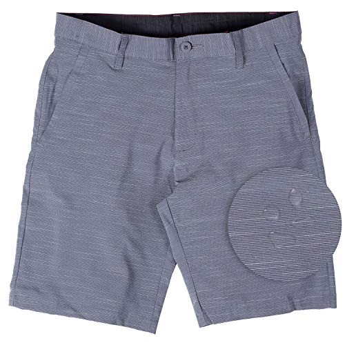 Burnside Hybrid Stretch Shorts for Mens Lightweight Boardshorts Grey - 34