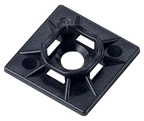 Ancor Marine Grade Products UV Black Adhesive Mounting Base (25 Pack) Ancor Marine Adhesive