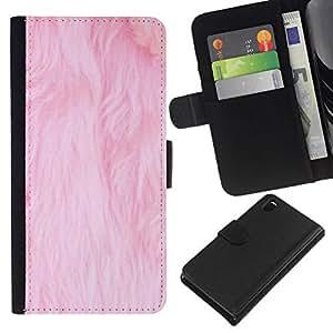 All Phone Most Case / Oferta Especial Cáscara Funda de cuero Monedero Cubierta de proteccion Caso / Wallet Case for Sony Xperia Z3 D6603 // piel de color rosa blanca gato alfombra limpia