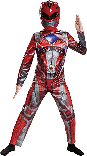 Disguise Boy's Classic Red Power Ranger Outfit Movie Theme Halloween Costume, Child L -