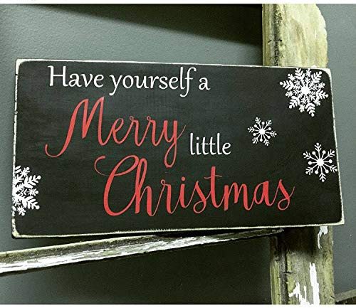 Georgia Barnard Have Yourself A Merry Little Christmas Wooden Sign Merry Christmas Farmhouse Decor Rustic Home Decor Holidays Christmas Spirit 8 x 14 Inch