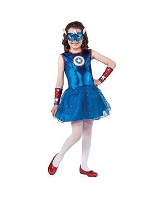 Amazon.com: Marvel Captain America Girls Superhero Halloween ...