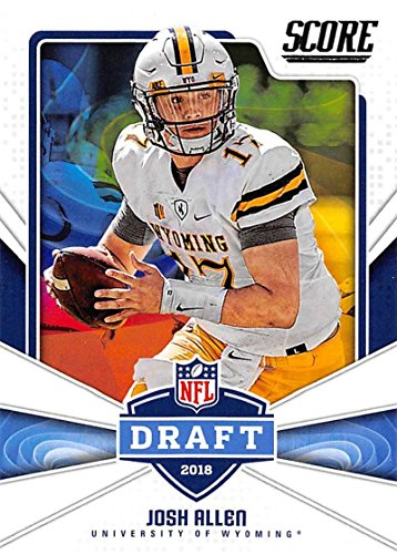 2018 Score NFL Draft #5 Josh Allen Wyoming Cowboys Rookie RC Football Card