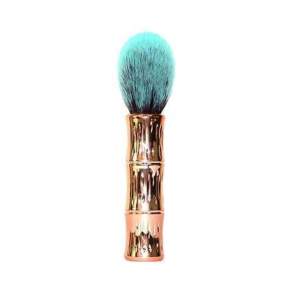 HCFKJ Pincel De Maquillaje Profesional 1 Unids Sola SeccióN De Bambú Pintura En Polvo Pintura De