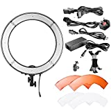 Neewer Camera Photo/Video LED Ring Light 18 inches/48 Centimeters Outer, 55W 240 Pieces LED, 5500K Dimmable with Plastic Color Filters, iPad Clip and Universal Adapter with US/EU Plug