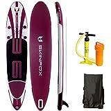 SKINFOX AKTIONS-Angebot Whale Double Layer Sup Board Carbon Set Weiss-Violett Paddelboard aufblasbares Sup 365x80x15; (190 kg Tragkraft) in TESTSIEGER-Qualität