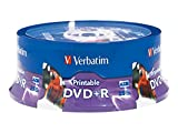 Verbatim 4.7GB up to16x White Inkjet PrintableHub Printable Recordable Disc DVD+R (25-Disc Spindle) 96190