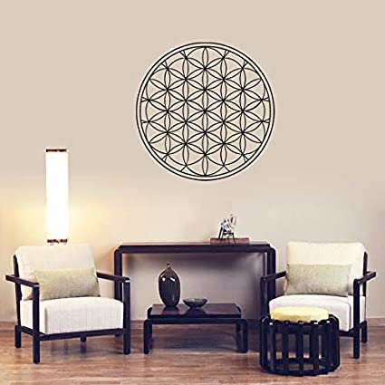 Mural ZOZOSO New Flower Wall Frescoes Mandala Magic Wheel ...