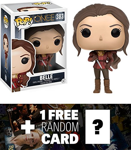 Belle: Funko POP! x Once Upon A Time Vinyl Figure + 1 FREE American TV Themed Trading Card Bundle (Evil Fairy Tale Characters)